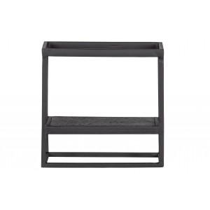 Kvadratinė sieninė lentyna Febe, metalas (juoda)