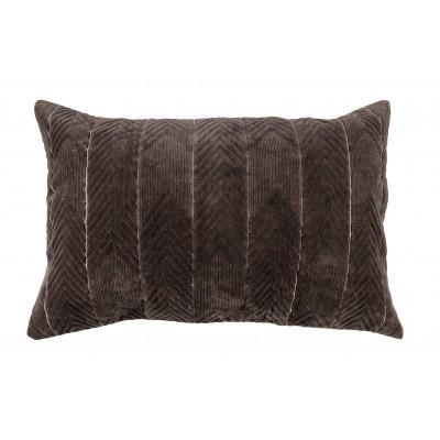 Pagalvėlė Fallon, 40x60 cm, velvetas (tamsiai ruda)