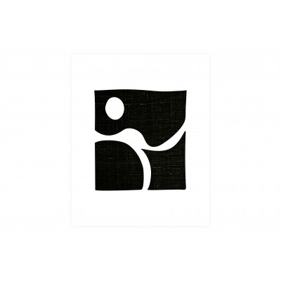 Plakatas Simple Black Art, 30x40 cm