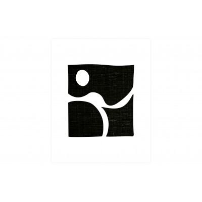 Plakatas Simple Black Art, 40x50 cm