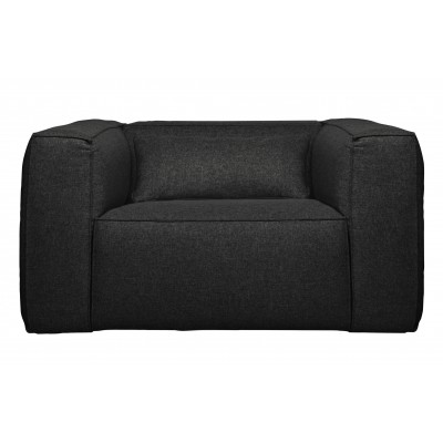 Fotelis Bean su pagalvėle (tamsiai pilka)