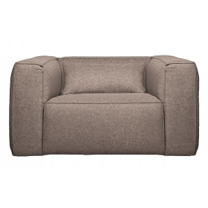 Fotelis Bean su pagalvėle (pilkšva)