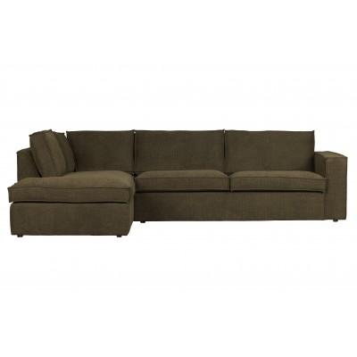 Kampinė sofa Freddie, kairinė (šiltai žalia)