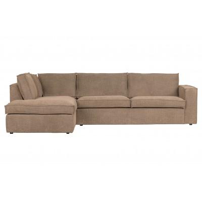Kampinė sofa Freddie, kairinė (tamsi smėlinė)