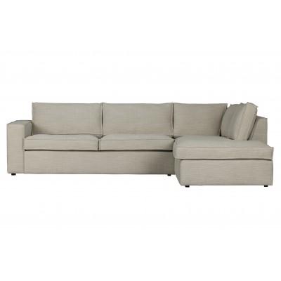 Kampinė sofa Freddie, dešininė (natūrali)