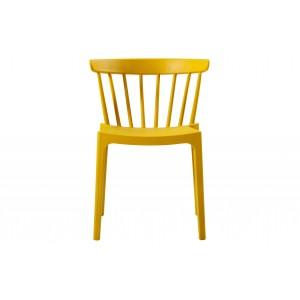 Plastikinė kėdė Bliss (ochros), 2 vnt.