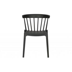 Plastikinė kėdė Bliss (juoda), 2 vnt.