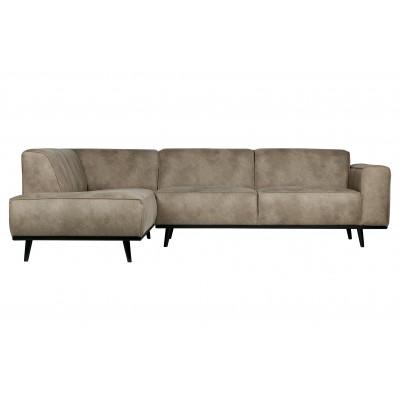 Kampinė sofa Statement, kairinė (dramblio odos spalvos)
