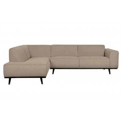 Kampinė sofa Statement, kairinė, boucle audinys (smėlio)