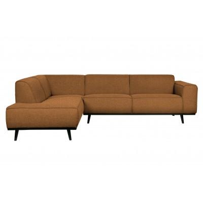 Kampinė sofa Statement, kairinė, bouclé audinys (deginto sviesto spalvos)