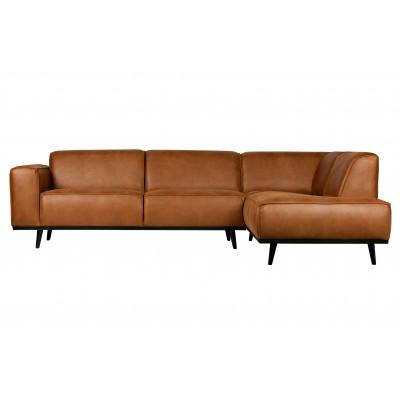 Kampinė sofa Statement, dešininė, eko oda (konjako)