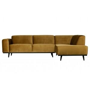 Kampinė sofa Statement, dešininė, bouclé audinys (kaštoninė)