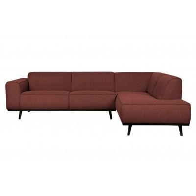 Kampinė sofa Statement, dešininė, boucle audinys (kaštoninė)