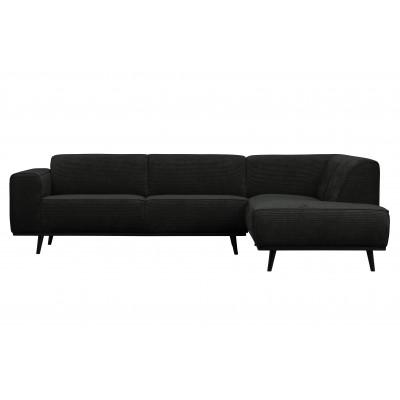 Kampinė sofa Statement, dešininė, plokščiasis velvetas (grafito)