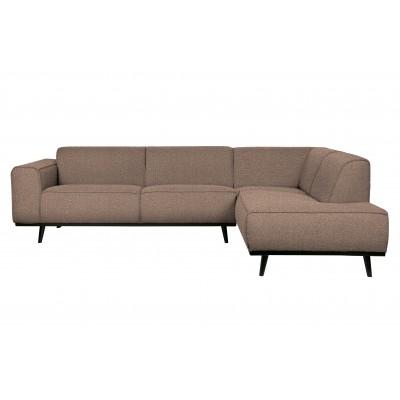 Kampinė sofa Statement, dešininė, boucle audinys (pilkšvai ruda)