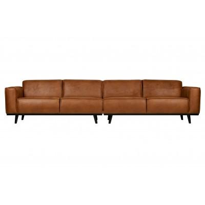 Keturvietė sofa Statement Xl, 372 cm, eko oda (konjako)