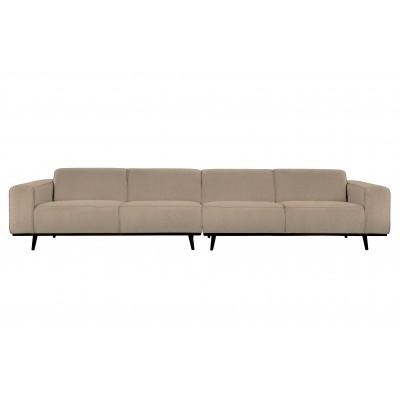 Keturvietė sofa Statement XL, 372 cm, boucle audinys (smėlio)