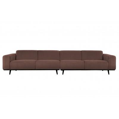 Keturvietė sofa Statement XL, 372 cm, boucle audinys (kavos atspalvio)