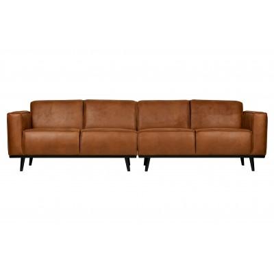 Keturvietė sofa Statement, 280 cm, eko oda (konjako)