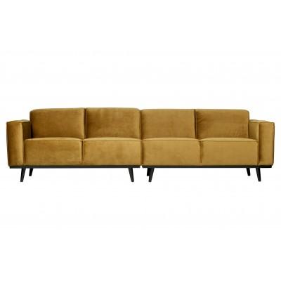 Keturvietė sofa Statement, 280 cm, velvetas (medaus geltona)
