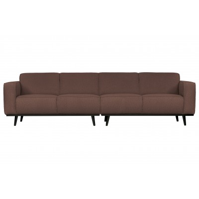 Keturvietė sofa Statement, 280 cm, boucle audinys (kavos atspalvio)
