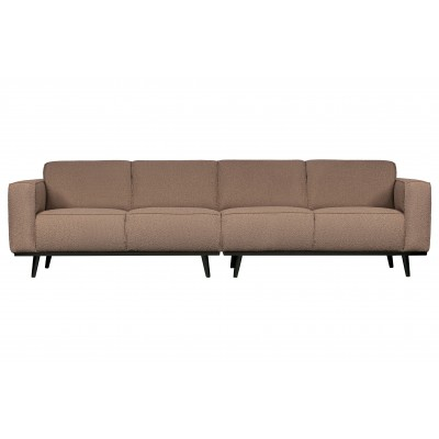 Keturvietė sofa Statement, 280 cm, boucle audinys (pilkšvai ruda)