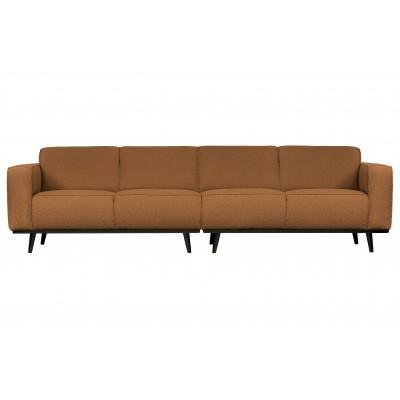 Keturvietė sofa Statement, 280 cm, bouclé audinys (deginto sviesto spalvos)