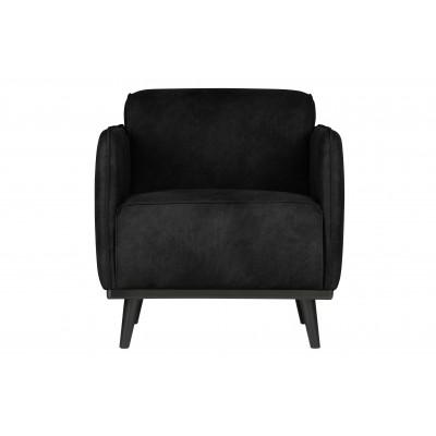Fotelis Statement, suedine medžiaga, primenanti verstą odą (juoda)