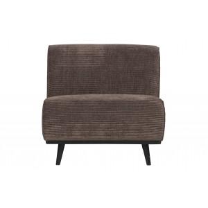 Vienvietė sofa Statement Element, plokščiasis velvetas (pilkšva)
