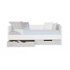 2 lovos stalčių komplektas Jade, pušis (balta)