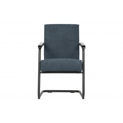 Fotelis Micha, kordinis velvetas (plieno mėlyna)