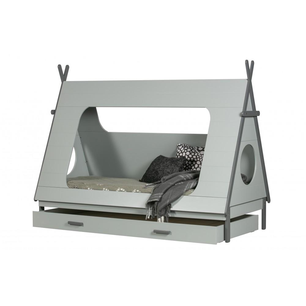 Lovos stalčius Tipi (betono pilka)