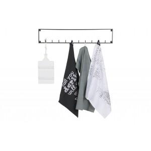 Viršutinių drabužių kabykla Meert su 10 kabliais (juoda)