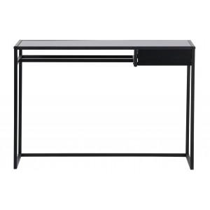 Rašomasis stalas Teun su stalčiumi, metalas (juoda)
