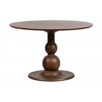 Valgomojo stalas Blanco, 120 cm skersm., mango medis (riešutmedžio)