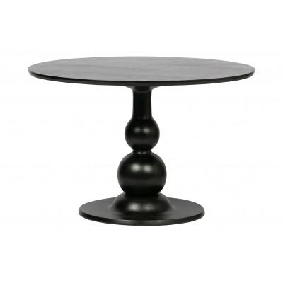 Valgomojo stalas Blanco, 120 cm skersm., mango medis (juoda)