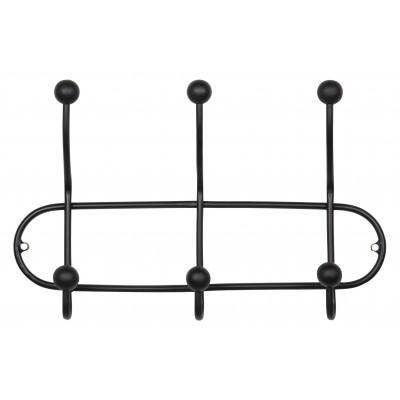Viršutinių drabužių kabykla Barb, metalas (juoda)