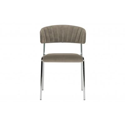 Valgomojo kėdė Twitch, velvetas (blyški rusvai pilka), 2 vnt.