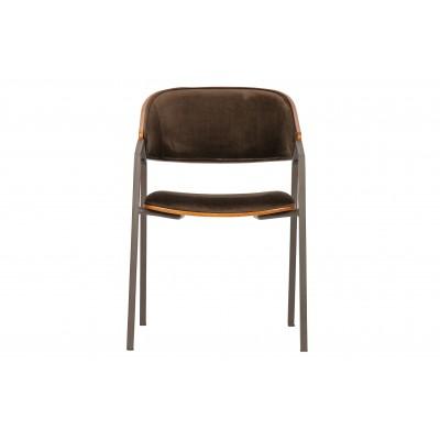 Valgomojo kėdė Clan, velvetas (ruda)