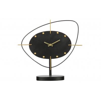 Metalinis laikrodis One O'clock (juoda)