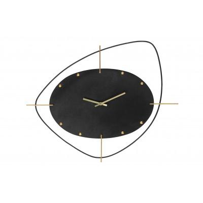 Metalinis laikrodis Two O'clock (juoda)