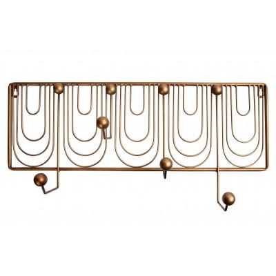 Viršutinių drabužių kabykla Ornamental, metalas (sendinto žalvario)