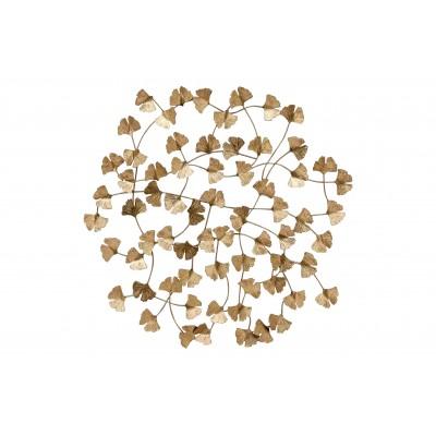 Metalinė sienos dekoracija Wallflowers (sendinto žalvario)