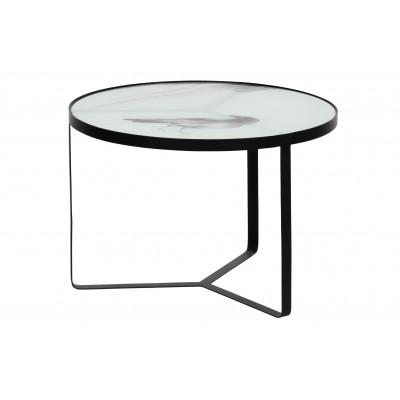 Šoninis staliukas Fly, metalas / stiklas (juoda) 38x55 cm
