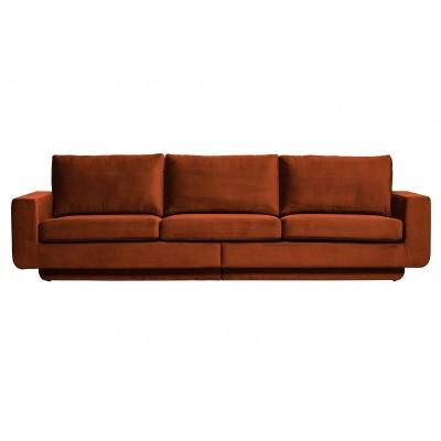 Trivietė sofa Fame, velvetas (rūdžių)