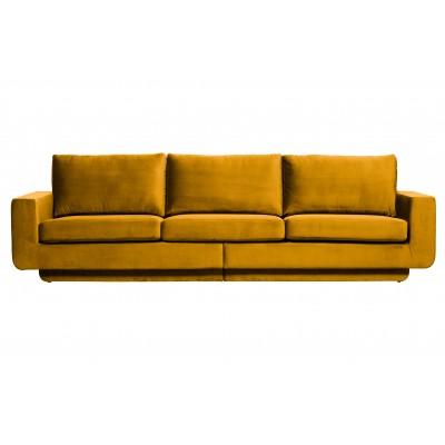 Trivietė sofa Fame, velvetas (ochros)