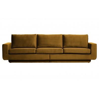 Trivietė sofa Fame, velvetas (medaus geltona)