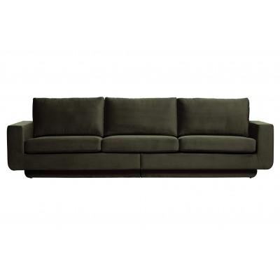 Trivietė sofa Fame, velvetas (tamsiai žalia)
