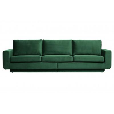 Trivietė sofa Fame, velvetas (miško žalia)