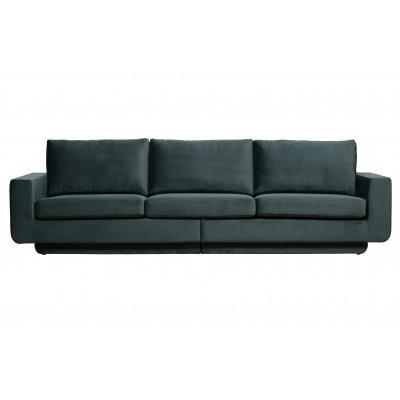 Trivietė sofa Fame, velvetas (žalsvai mėlyna)